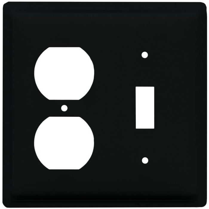 Plain 1-Duplex / 1-Toggle - Combination Wall Plates