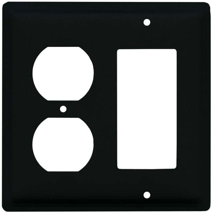 Plain 1-Duplex / 1 Decorator Rocker - Combination Switch Cover