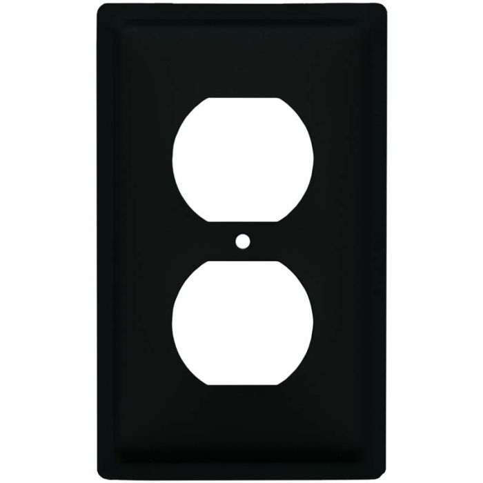 Plain 1 Gang Duplex Outlet Cover Wall Plate