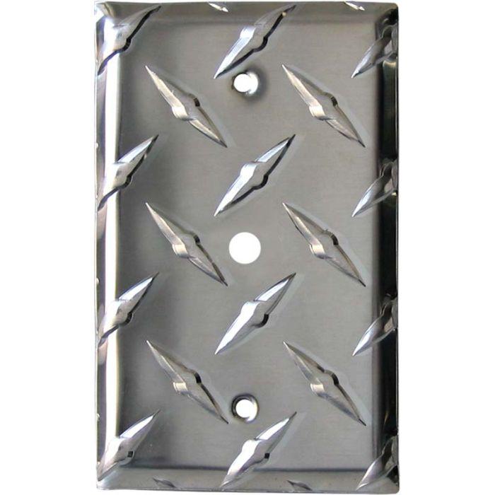 Polished Diamond Plate Tread Coax Cable TV Wall Plates