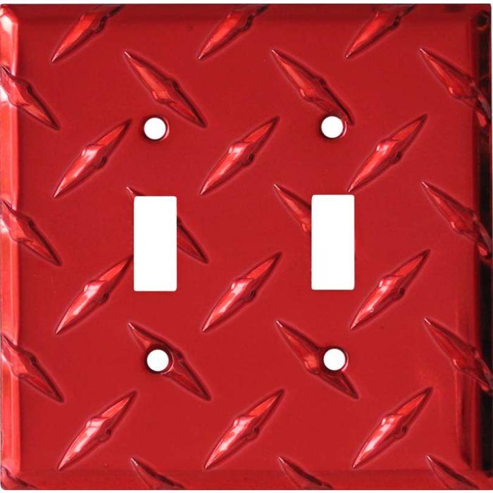 Polished Diamond Plate Tread Red