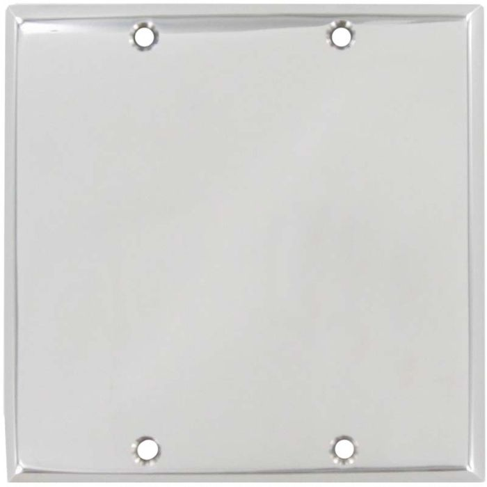 Polished Nickel Double Blank Wallplate Covers