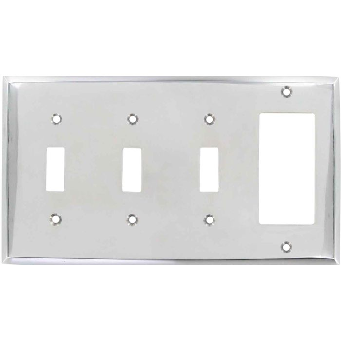 Polished Nickel - 3 Toggle/1 Rocker GFCI Switch Covers