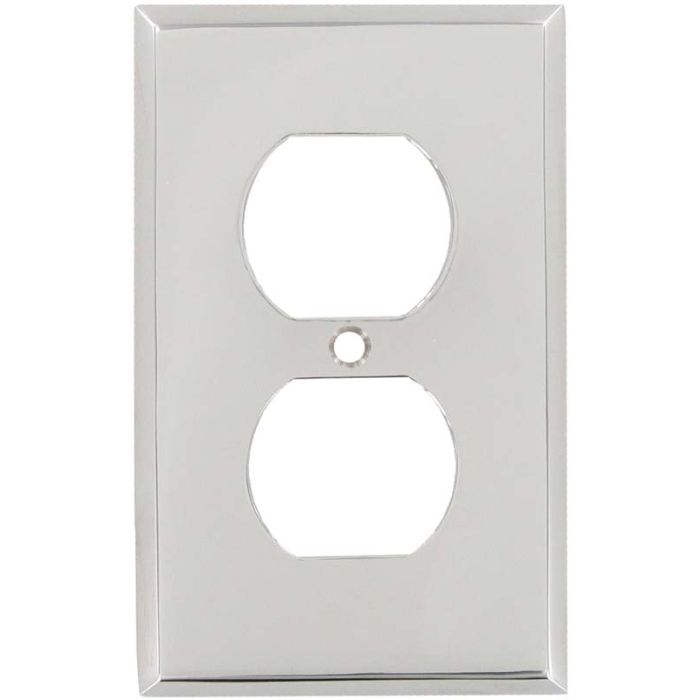 Polished Nickel 1 Gang Duplex Outlet Cover Wall Plate