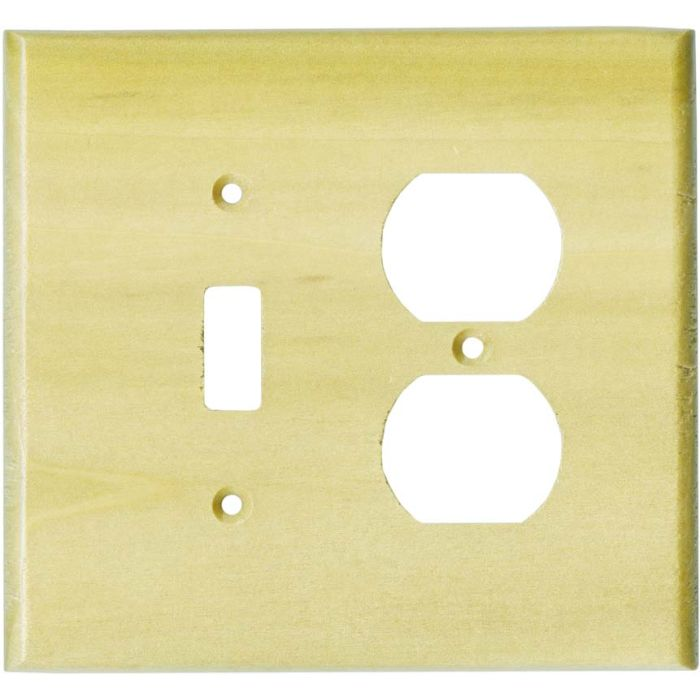 Poplar Satin Lacquer - Combination 1 Toggle/Outlet Cover Plates