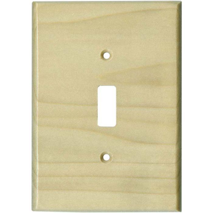 Poplar Satin Lacquer Single 1 Toggle Light Switch Plates