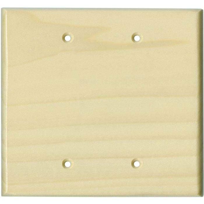 Poplar Satin Lacquer Double Blank Wallplate Covers