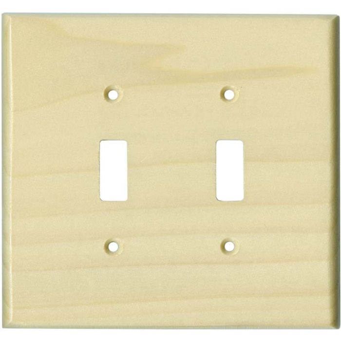 Poplar Satin Lacquer Double 2 Toggle Switch Plate Covers