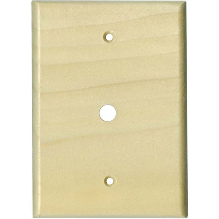 Poplar Satin Lacquer Coax Cable TV Wall Plates