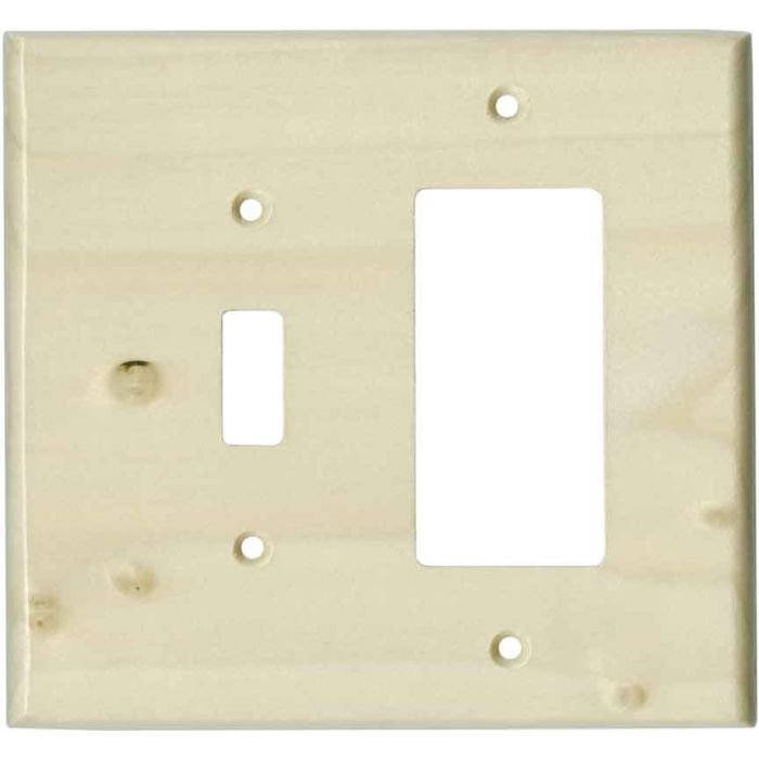 Poplar Unfinished - Combination 1 Toggle/Rocker Switch Covers