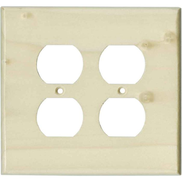 Poplar Unfinished - 2 Gang Electrical Outlet Covers