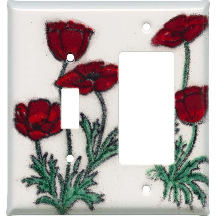 Poppy Combination 1 Toggle / Rocker GFCI Switch Covers