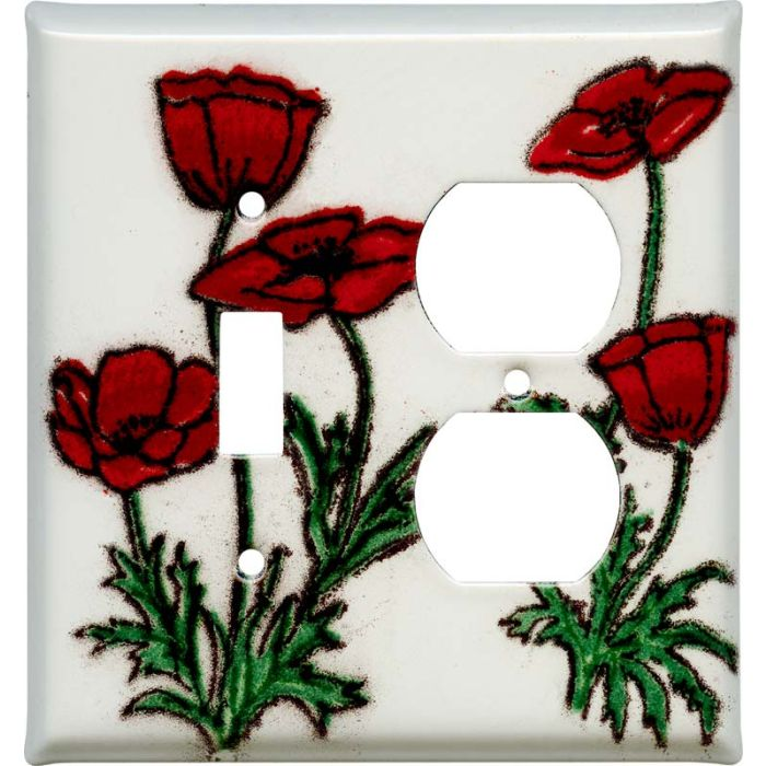 Poppy Combination 1 Toggle / Outlet Cover Plates
