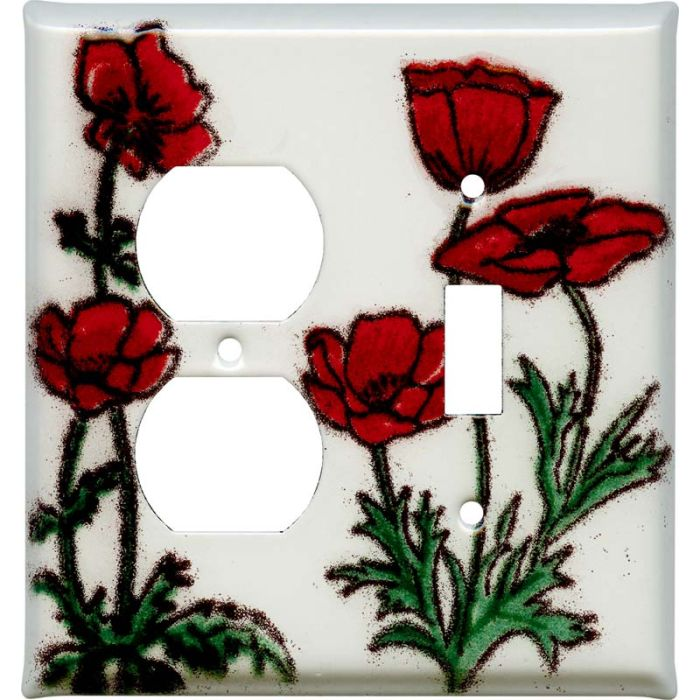 Poppy 1-Duplex / 1-Toggle - Combination Wall Plates