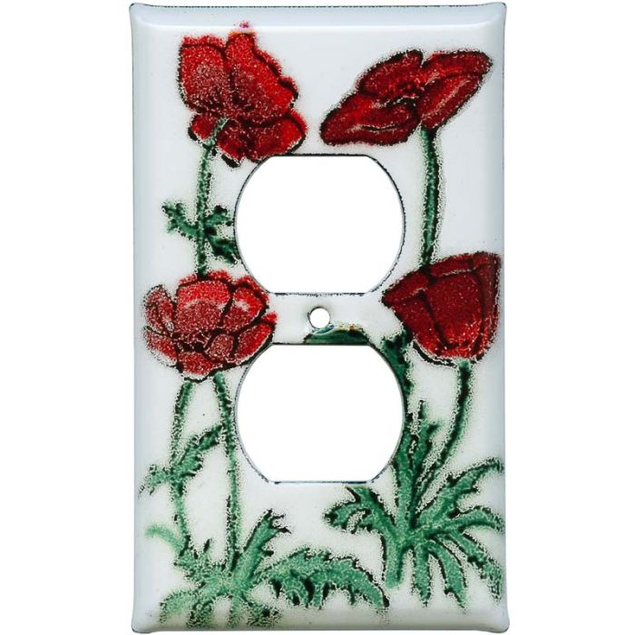 Poppy 1 Gang Duplex Outlet Cover Wall Plate