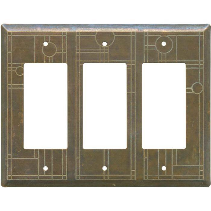Prairie Triple 3 Rocker GFCI Decora Light Switch Covers