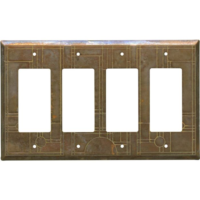 Prairie 4 Rocker GFCI Decorator Switch Plates