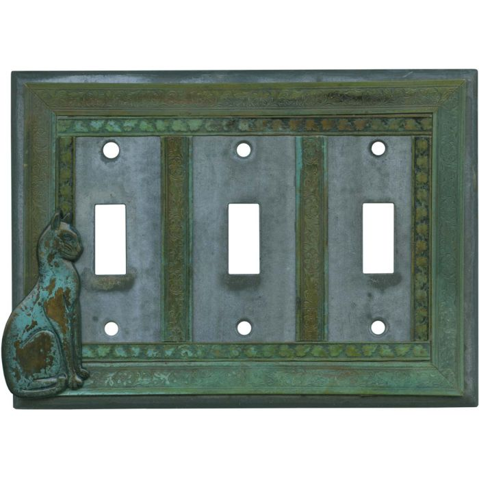 Precious Cat Triple 3 Toggle Light Switch Covers