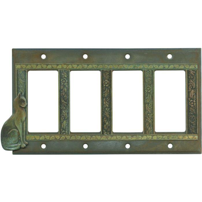 Precious Cat 4 Rocker GFCI Decorator Switch Plates