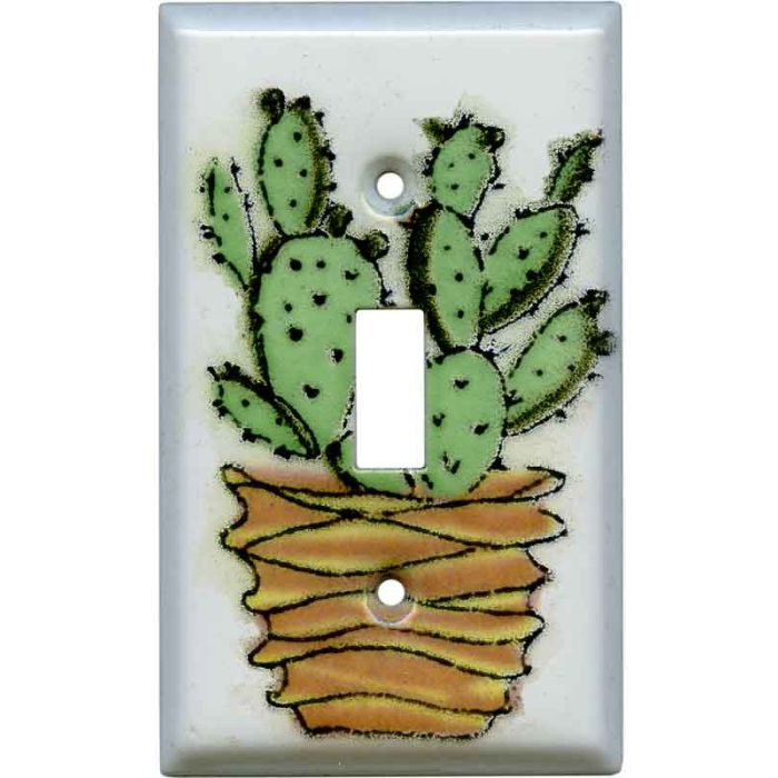 Prickly Pear 1 Toggle Light Switch Cover