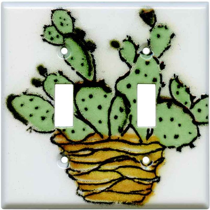 Prickly Pear 2 Toggle Switch Plates