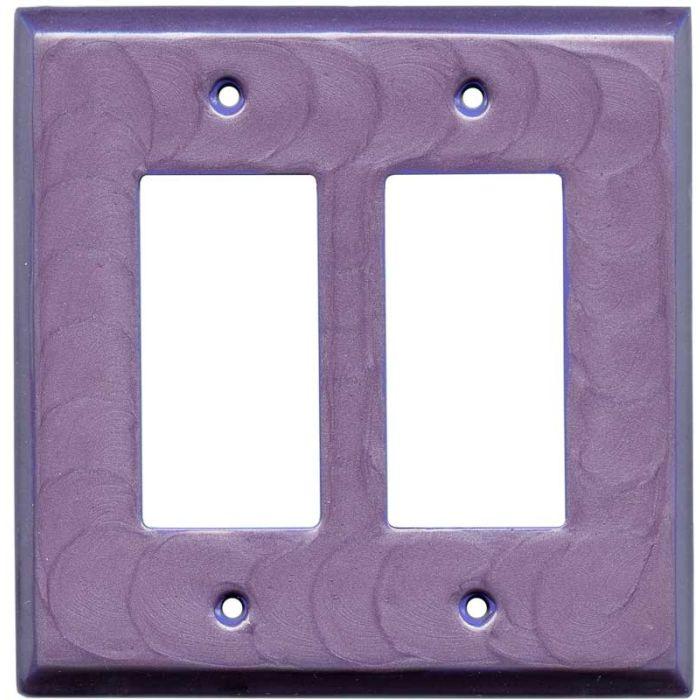 Purple Motion - 2 Gang Double GFCI Rocker Wallplates