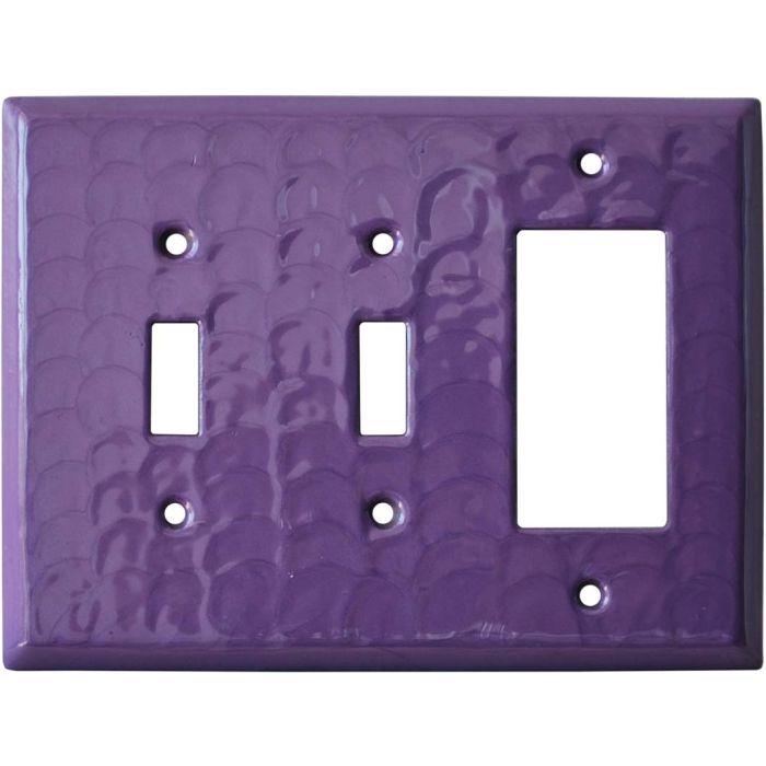 Purple Motion - 2 Toggle/1 GFCI Rocker Switchplates