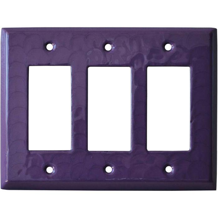 Purple Motion Triple 3 Rocker GFCI Decora Light Switch Covers