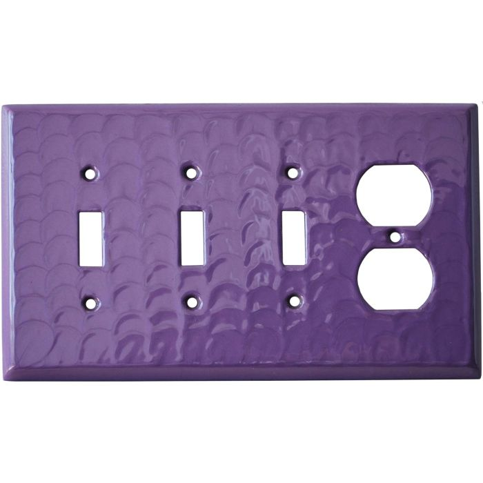 Purple Motion - 3 Toggle/Outlet Combo Wallplates