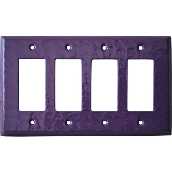 Purple Motion 4 Rocker GFCI Decorator Switch Plates