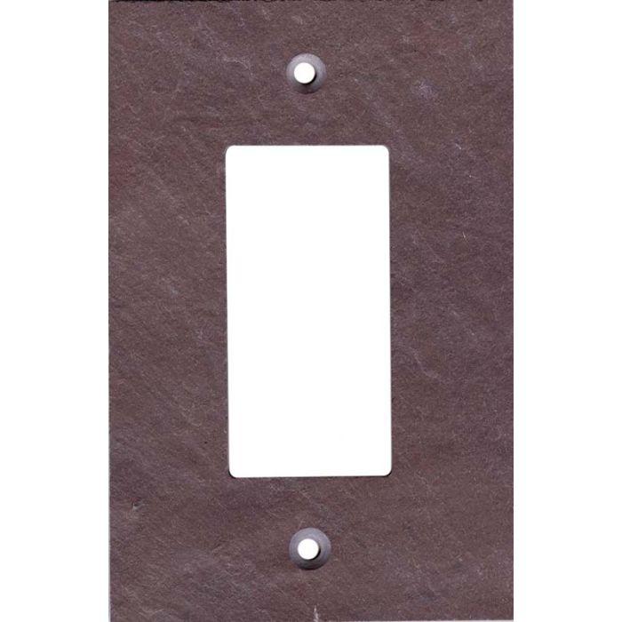 Vermont Purple Slate Single 1 Gang GFCI Rocker Decora Switch Plate Cover