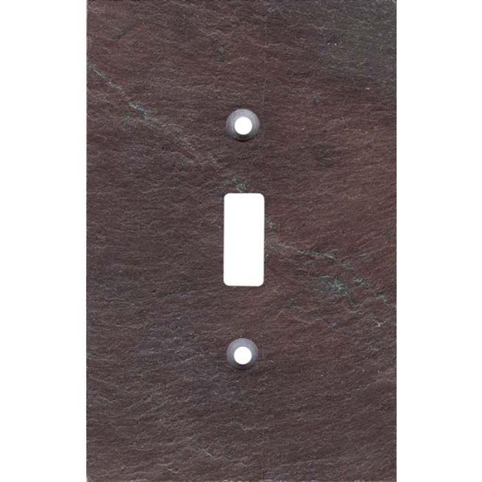 Vermont Purple Slate Single 1 Toggle Light Switch Plates