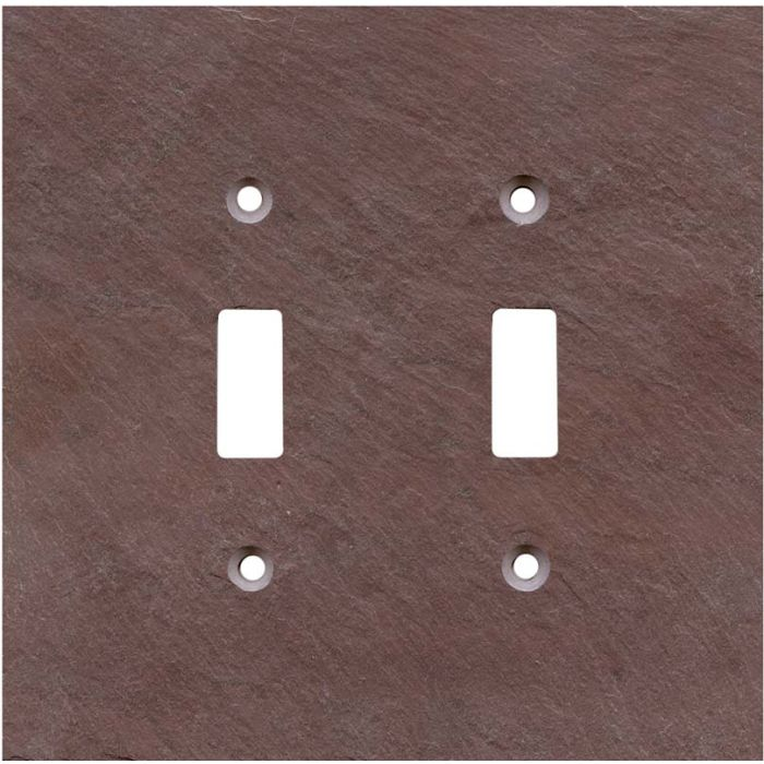 Vermont Purple Slate Double 2 Toggle Switch Plate Covers