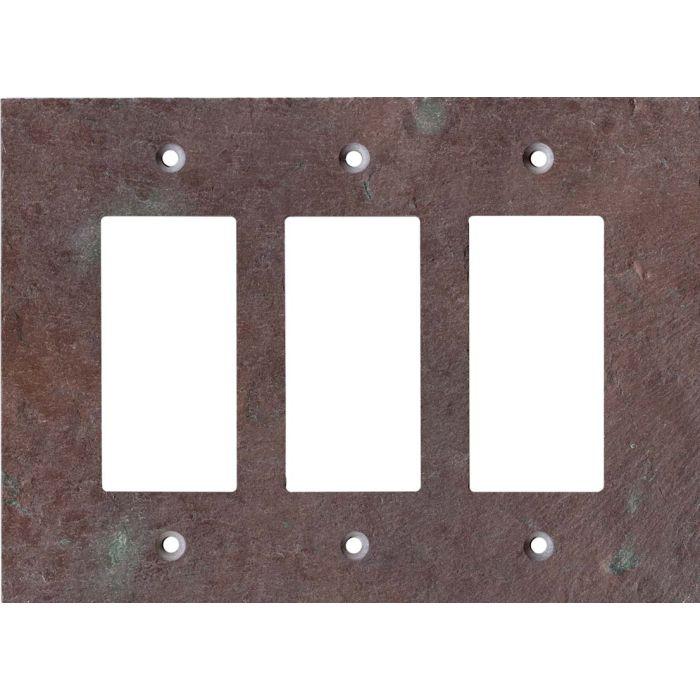 Vermont Purple Slate Triple 3 Rocker GFCI Decora Light Switch Covers