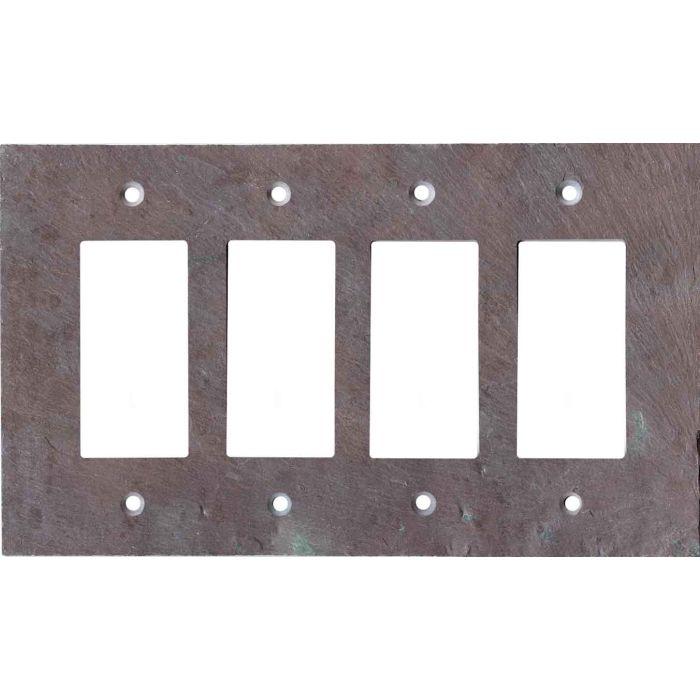 Vermont Purple Slate 4 Rocker GFCI Decorator Switch Plates
