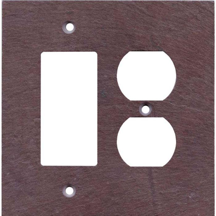 Vermont Purple Slate Combination GFCI Rocker / Duplex Outlet Wall Plates