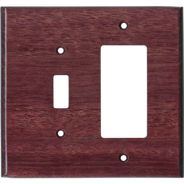 Purpleheart Satin Lacquer - Combination 1 Toggle/Rocker Switch Covers
