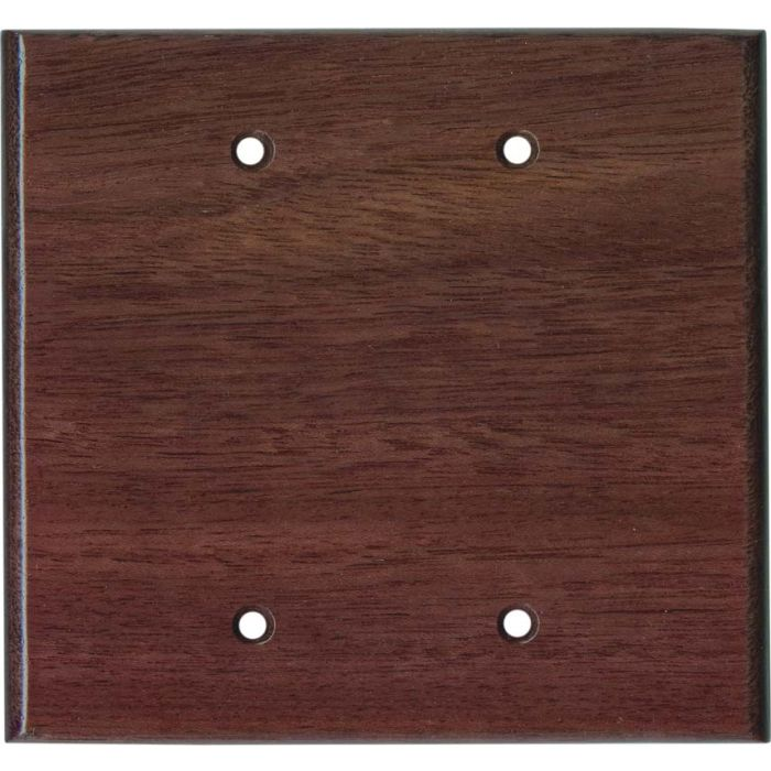 Purpleheart Satin Lacquer Double Blank Wallplate Covers