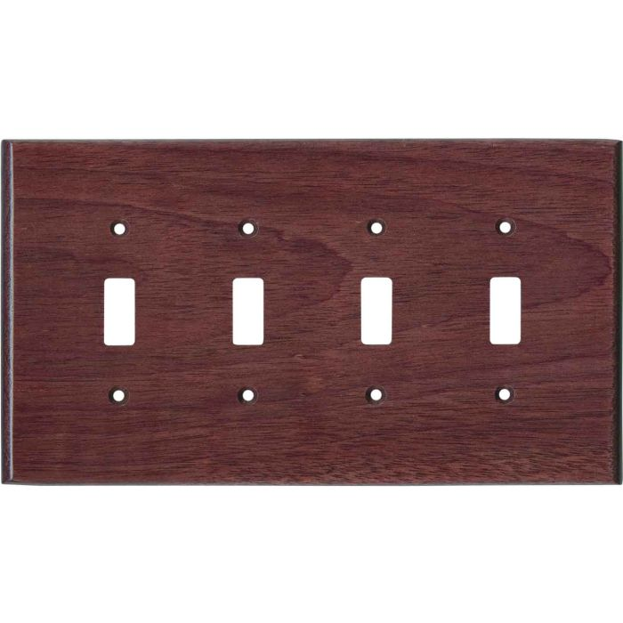 Purpleheart Satin Lacquer Quad 4 Toggle Light Switch Covers