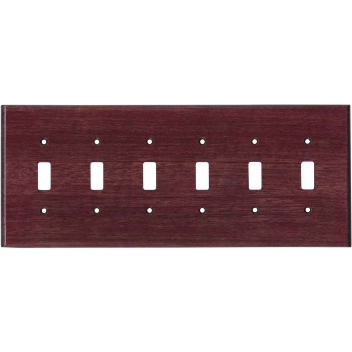 Purpleheart Satin Lacquer 6 Toggle Wall Plate Covers