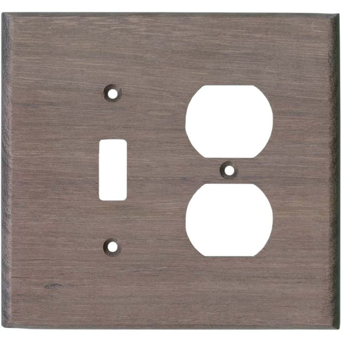 Purpleheart Unfinished - Combination 1 Toggle/Outlet Cover Plates