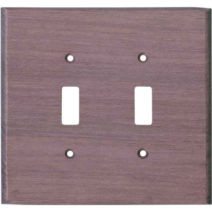 Purpleheart Unfinished - 2 Toggle Switch Plate Covers