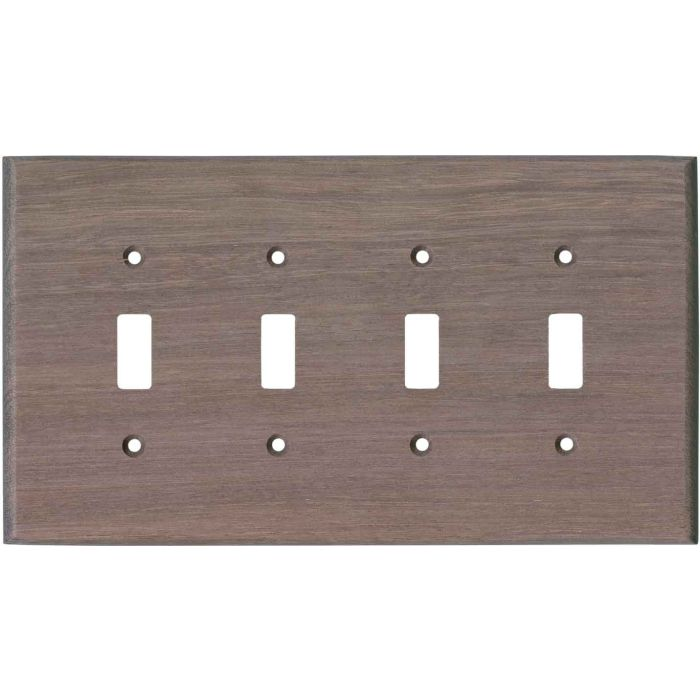Purpleheart Unfinished - 4 Toggle Light Switch Covers