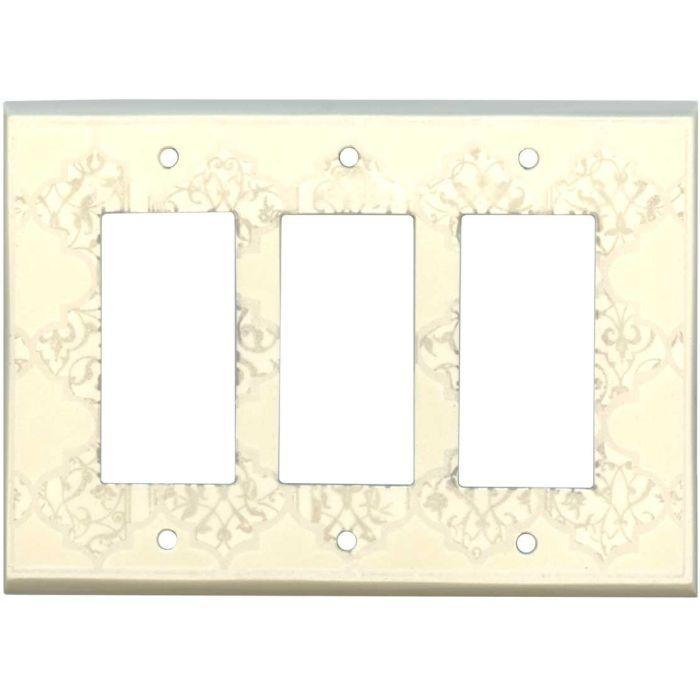 Quatrefoil Neutral Ceramic3 - Rocker / GFCI Decora Switch Plate Cover