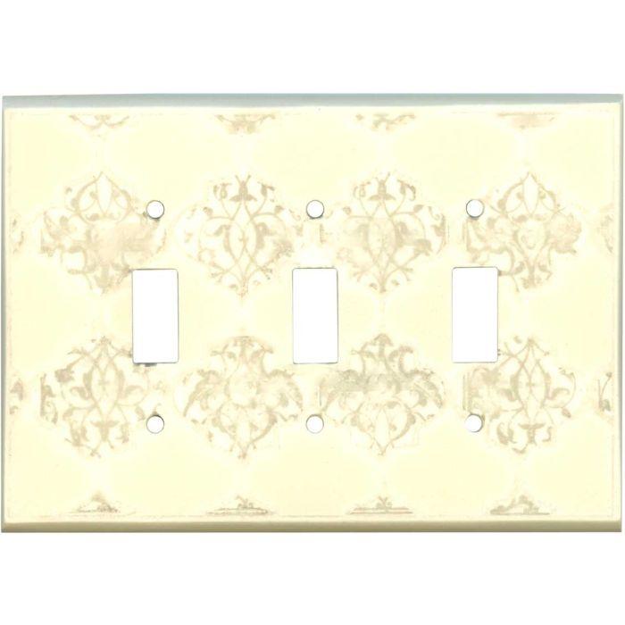 Quatrefoil Neutral Ceramic3 - Toggle Switch Plates