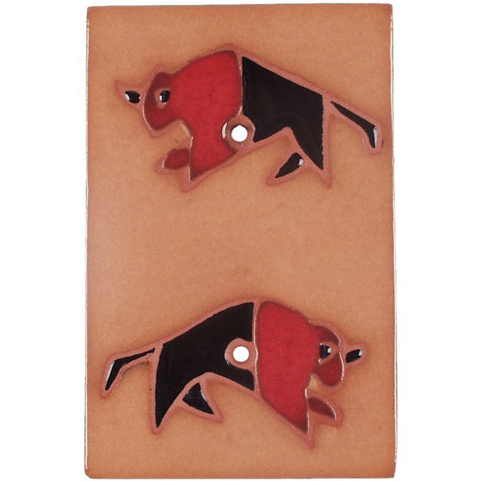 Red Black Buffalo - Blank Wall Plates