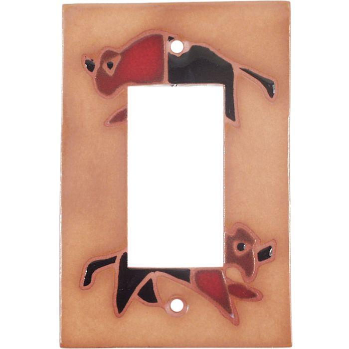 Red Black Buffalo Single 1 Gang GFCI Rocker Decora Switch Plate Cover