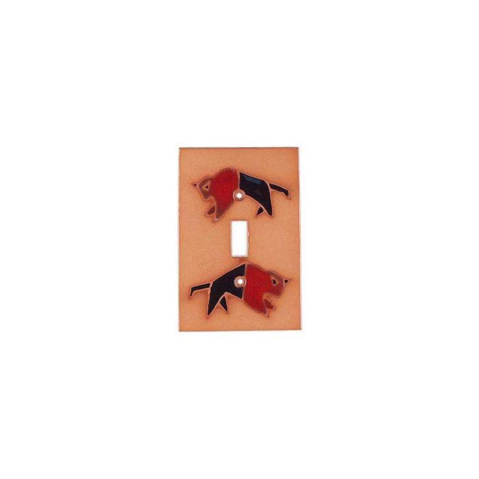 Red Black Buffalo Single 1 Toggle Light Switch Plates