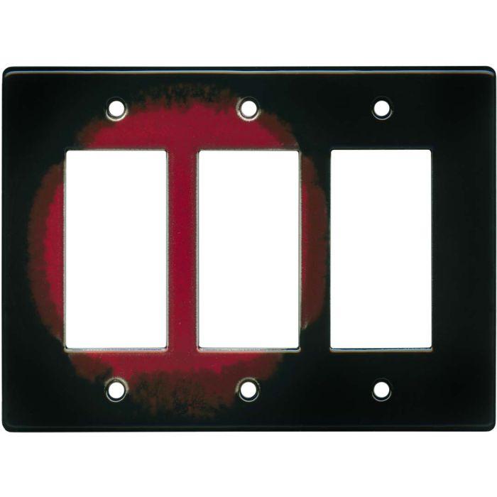 Red Lake Triple 3 Rocker GFCI Decora Light Switch Covers