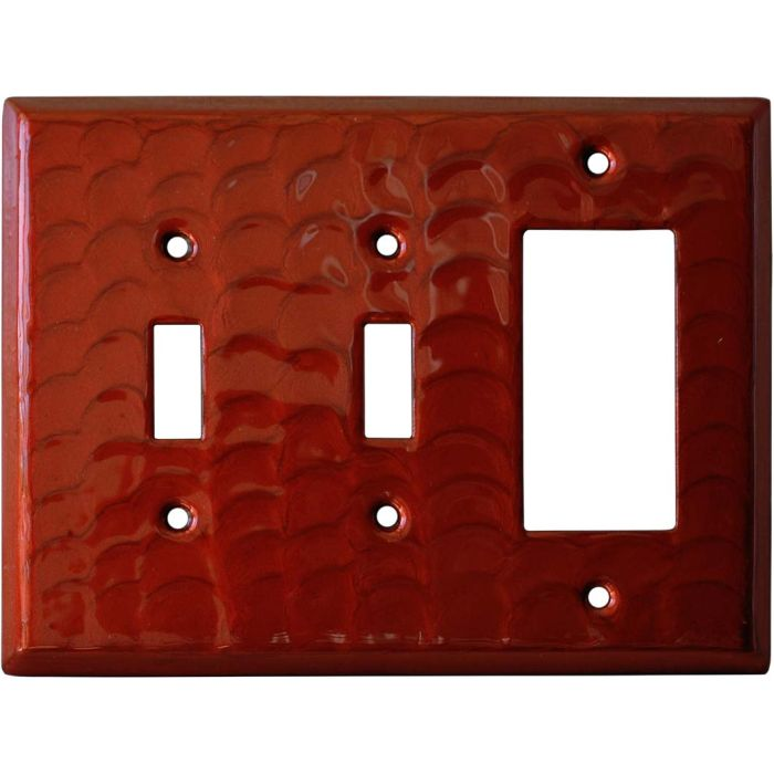 Red Motion - 2 Toggle/1 GFCI Rocker Switchplates